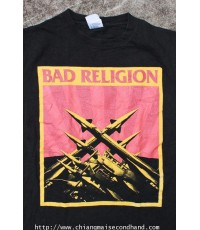 เสื้อวงพังค์ Bad Religion T Shirt Sz.M 100 cotton Assembled in Nicaragua of USA Fabric ใหม่มาก