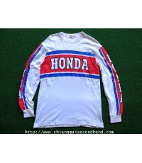 Vintage Honda Racing Team Motocross Long Sleeve T Shirt Made in Japan