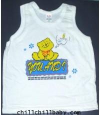 เสื้อกล้ามเดี่ยวสีขาว  Size \'XL\'  (โหลละ 390 บาท)