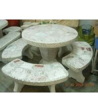 โต๊ะหินอ่อนทรงกลมขนาด 80 cm.
