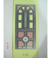 ประตู ลาย C.125 ขนาด 70*200-100*200 ไม้สยาแดงหรือไม้จำปา