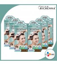 Richenna Hair Dye Natural Brown ผลิตภัณฑ์เปลี่ยนสีผม ริชเชนน่า สีน้ำตาลธรรมชาติ จำนวน 6 กล่อง