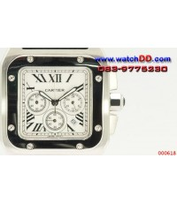 CARTIER SANTOS S100 Chronograph King Size ตัวเรือน Stainless