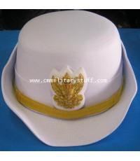 หมวกหม้อตาลขาวข้าราชการหญิง