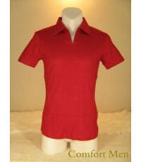 เสื้อโปโล แขนสั้น Uzem สีแดง