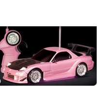 TAKARA TOMY Drift Package Light Mazda RX-7 FD3S (Pink w/ HeadLights)