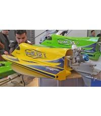 เรือน้ำมัน F1 ThunderTiger Bandit 3.5 II เครื่องยนต์ Outboard แรงครบชุด ด้วยวิทยุ 2.4GHz