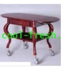โต๊ะไม้มีล้อพร้อมลิ้นชัก,Wood Service Cart