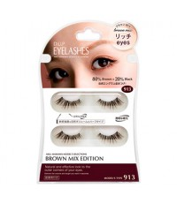 DUP Eyelashes Brown Mix Edition ขนตาปลอมสีน้ำตาลเข้ม เพิ่มความหวานเด่นให้ดวงตาสวย เก๋ (913)