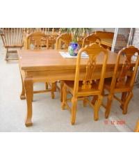 โต๊ะสี่เหลี่ยม 2 เมตร แบบขาสิงห์  ( 5004  )