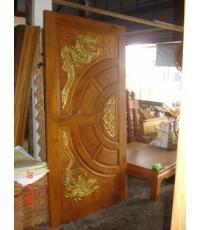 บานประตูบานคู่  แกะลายหงษ์ มังกร (8016)
