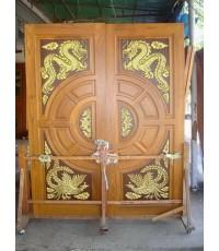บานประตูคู่ แกะหงษ์ มังกร ( 8063 )
