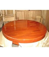 โต๊ะกลมไม้มะค่า แผ่นเดียว 120 ชม.( 5042 )