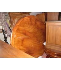 โต๊ะกลม ไม้มะค่า แผ่นเดียว ขนาด 150 cm (5051)