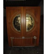 บานประตูใส่กระจก ลายสี ( 8100 )