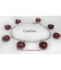 =Sold out= สร้อยหิน Canelian พร้อมต่างหู 1 คู่