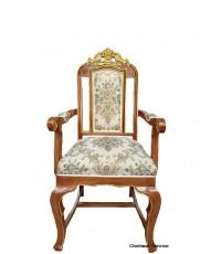 ให้เช่าเก้าอี้หลุยส์ ไม้สัก เดินทอง มีท้าวแขน
