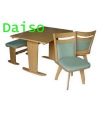 ชุดโต๊ะเก้าอี้อาหารไม้/ชุดโต๊ะเก้าอี้อาหารไม้ยางพารา  รุ่นพาร์มา