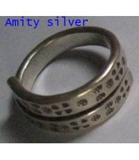 แหวนเงินแท้ 99, R PT-015