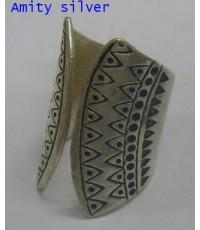 แหวนเงินกะเหรี่ยงตอกลาย, R PT-063