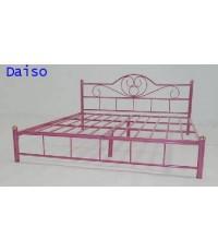 เตียงเหล็ก ขนาด5 ฟุต ขาแป๊บเหล็กกลมขนาด2นิ้ว, DS Bed-22