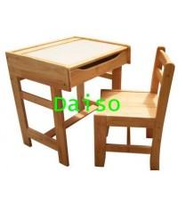 S-132 ชุดโต๊ะเก้าอี้นักเรียนมัธยม/โต๊ะเก้าอี้นักเรียนมัธยมไม้ยางพารา