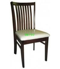 เก้าอี้อาหารไม้ยาง/เก้าอี้ทานข้าวไม้ยางสีโอ๊คเข้ม_DPC-028