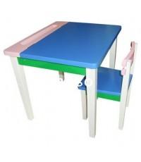 โต๊ะเขียนหนังสือเด็กS-139/โต๊ะเขียนหนังสือไม้ยาง