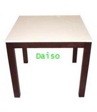 โต๊ะอาหารหน้าขาว/ โต๊ะอาหารไม้ยางพารา DPT-084