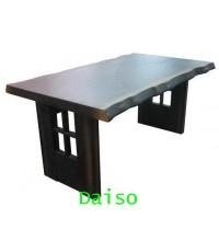 โต๊ะทานอาหารไม้ยางพาราดีไซน์ไม้เก่า / DPT-056