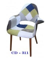 เก้าอี้เรโทรเบาะผ้า/เก้าอี้เรโทรPatchwork/CD-311