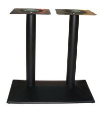 ขาโต๊ะเหล็กเสาคู่ ฐานเหล็กปั๊ม สีดำ_T-167/ขาโต๊ะนำเข้าสำเร็จรูป