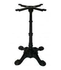ขาโต๊ะสำเร็จรูป ขาโต๊ะเหล็กหล่อมีลาย4แฉก มีปุ่มปรับ ขาโต๊ะวินเทจ/T_176