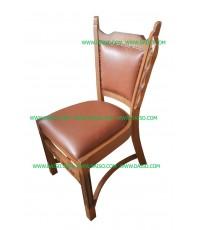 เก้าอี้เบาะหนัง pvc /เก้าอี้ไม้ _Y-9