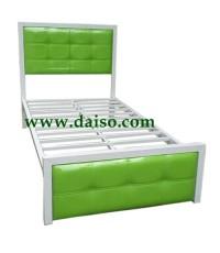 เตียงเหล็ก หัวเตียงหุ้มหนังเทียม DS-BED 27