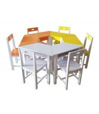 ชุดโต๊ะและเก้าอี้นักเรียนไม้ยางพารา เก้าอี้นักเรียนS-151