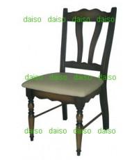 เก้าอี้ขากลึง/เก้าอี้อาหารไม้ยางขากลึง_DPC-103