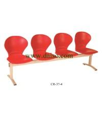 เก้าอี้พักคอย 4ที่นั่ง CR-37-4/เก้าอี้พักคอยพลาสติก