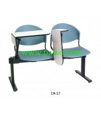 เก้าอี้แถวพลาสติกเลคเชอร์แขนสวิง 2ที่นั่ง CR-17-2