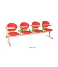 เก้าอี้เลคเชอร์ 4 ที่นั่งหุ้มเบาะ PVC CR-35-4