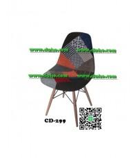 เก้าอี้ พลาสติกหุ้มเบาะผ้า CD-299