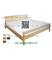 เตียงไม้_DS-RUBBER WOOD-18 เตียงไม้ยางพารา ขนาด 5 ฟุต