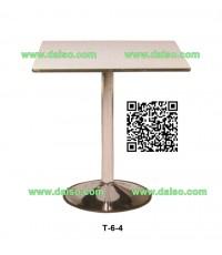โต๊ะอาหารหน้าโฟเมก้าขาว T-6-4