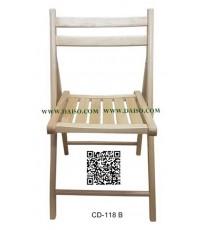 เก้าอี้พับไม้ยาง/เก้าอี้พับไม้ยางพารา CD-118