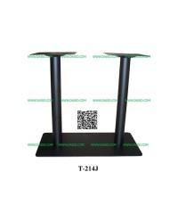 ขาโต๊ะเหล็ก/ ขาโต๊ะร้านอาหาร เสาคู่ T-214