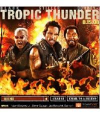 """หนังโรงTropic Thunder /พากษ์ไทย+ซับไทย/DVD \""""เบน สติลเลอร์,แจ็ค แบล็ค,โรเบิร์ต ดาวนี่ย์ จูเนี่ย"""
