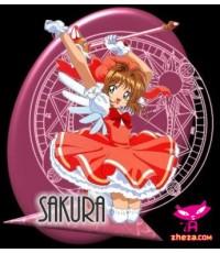 การ์ดแคปเตอร์ซากุระ Cardcaptor Sakura /การ์ตูนชุด /พากษ์ไทย V2D 8แผ่นจบ