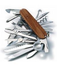 มีดพับ Victorinox SwissChamp Hardwood (ด้ามไม้)