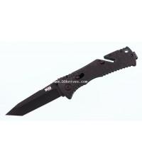 มีดพับ SOG Trident TiNi Tanto Blade, GRN Handles (TF-7)