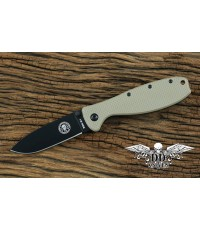 มีดพับ ESEE Zancudo Black Blade, Desert Tan FRN and Stainless Steel Handles (BRKR1DTB)